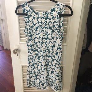 Zara Button Back Floral V Cut Mini Short Dress XS